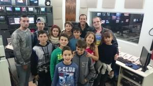 Visita do grupo do Escolhe Vilar à RTP