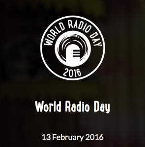Logotipo oficial do Dia Mundial da Rádio 2016